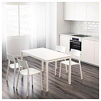 МЕЛЬТОРП Стол, белый, 125x75 см, фото 1