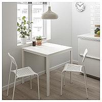 МЕЛЬТОРП / АДДЕ Стол и 2 стула, белый, 75 см, фото 1