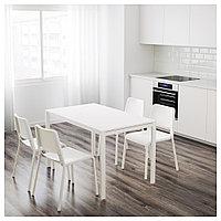 МЕЛЬТОРП / ТЕОДОРЕС Стол и 4 стула, белый, 125 см, фото 1