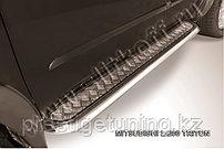 Защита порогов d57 с листом усиленная Mitsubishi L200 Triton