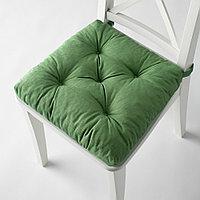 МАЛИНДА Подушка на стул, зеленый, 40/35x38x7 см