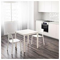 МЕЛЬТОРП Стол, белый, 75x75 см, фото 1