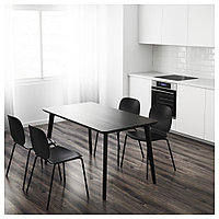 ЛИСАБО Стол, черный, 140x78 см, фото 1