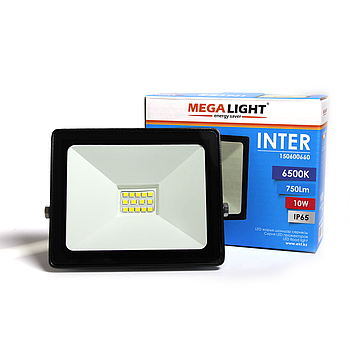LED Прожектор INTER 10W 6500K IP65 MEGALIGHT(24)