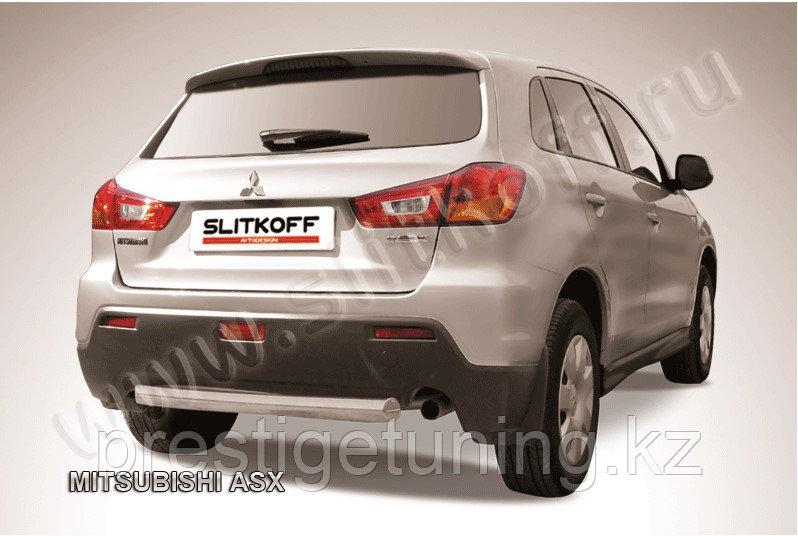 Защита заднего бампера d76 короткая Mitsubishi ASX 2010-14