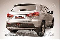 Защита заднего бампера d57 Mitsubishi ASX 2010-14