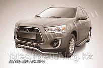 """Защита переднего бампера d57 """"волна"""" Mitsubishi ASX 2014-"""