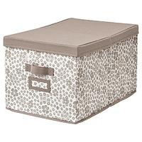 Коробка с крышкой СТОРСТАББЕ бежевый 35x50x30 см ИКЕА, IKEA, фото 1