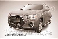 Защита переднего бампера d76 короткая Mitsubishi ASX 2014-
