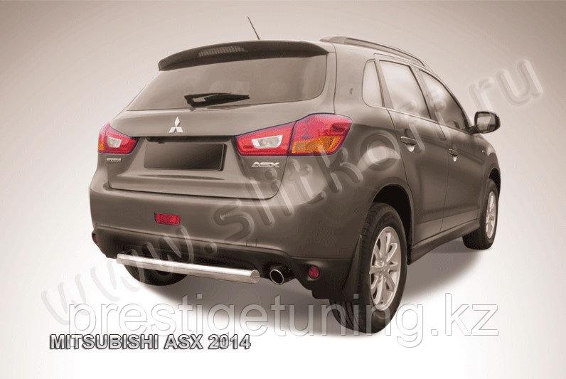 Защита заднего бампера d76 короткая Mitsubishi ASX 2014-