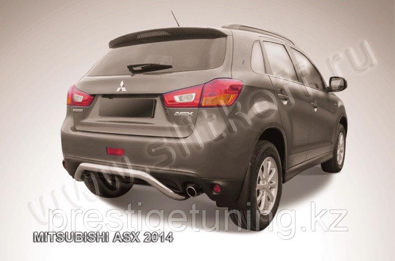 """Защита заднего бампера d57 """"скоба"""" Mitsubishi ASX 2014-"""