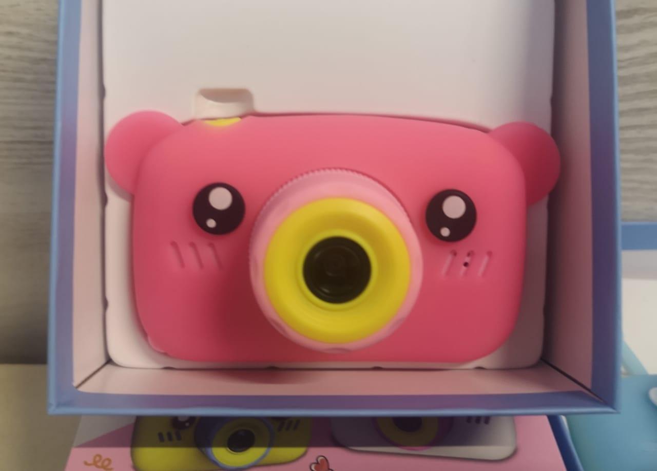 Детский фотоаппарат с памятью, мишка синий - фото 3