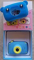 Детский фотоаппарат с памятью, мишка синий