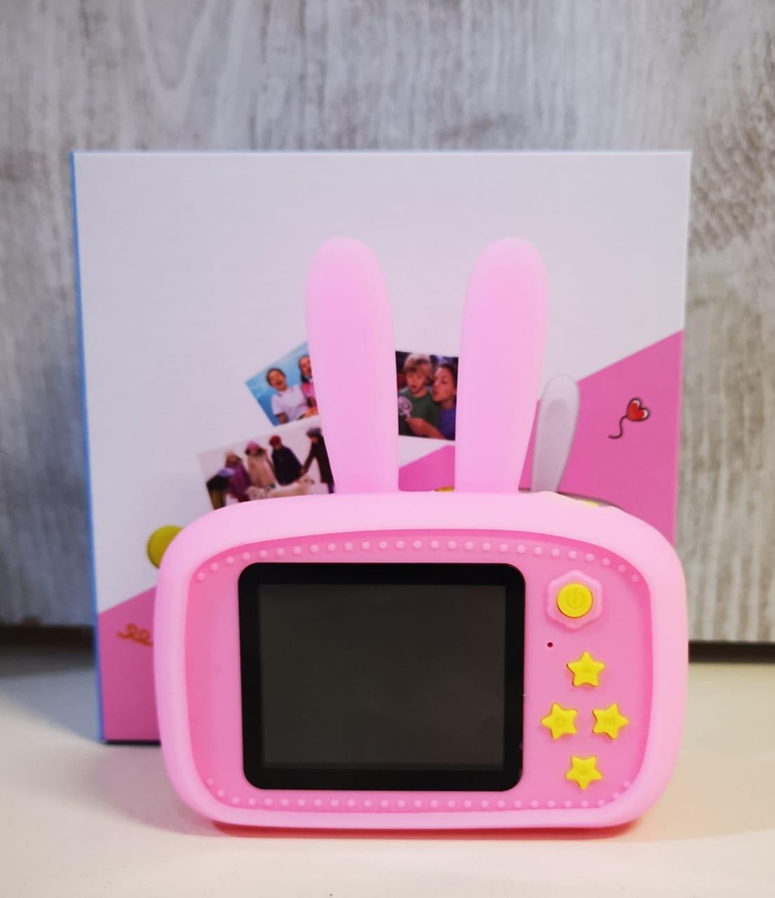 Детский фотоаппарат с памятью, мишка синий - фото 4