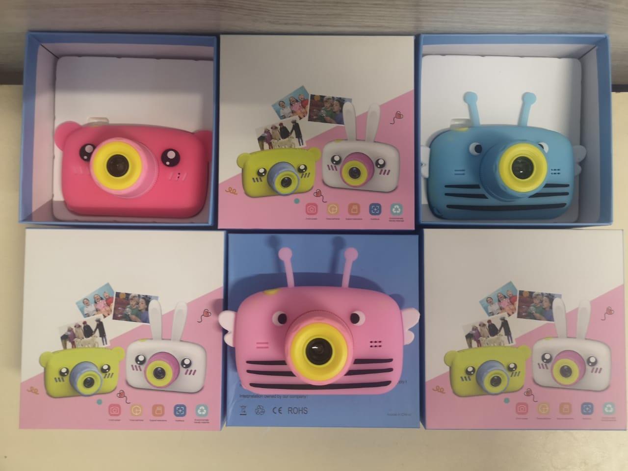 Детский фотоаппарат с памятью, мишка синий - фото 5