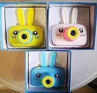Фотоаппарат с памятью, зайчик голубой