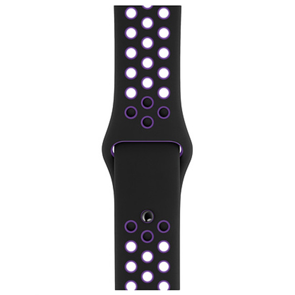 Оригинальный браслет/ремешок для Apple Watch 40mm Black/Hyper Grape Nike Sport Band S/M & M/L (5R30XH0GK)