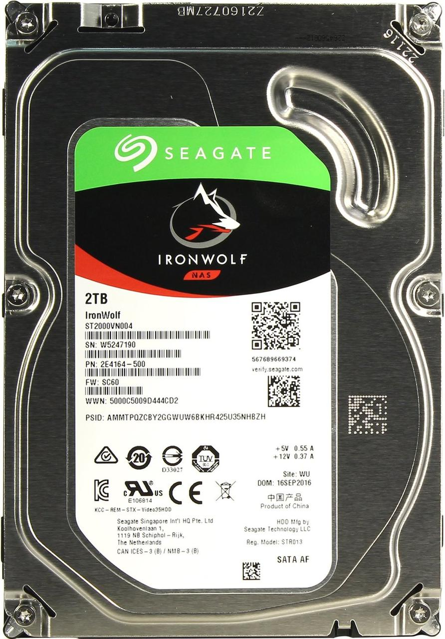 "Жесткий диск для NAS систем 2Tb HDD Seagate IronWolf SATA (3.5"")"