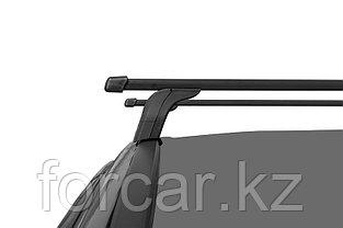 Багажная система LUX с дугами 1,2м прямоугольными в пластике для Hyundai Tucson III 2016+ интегр. рейлинг, фото 2
