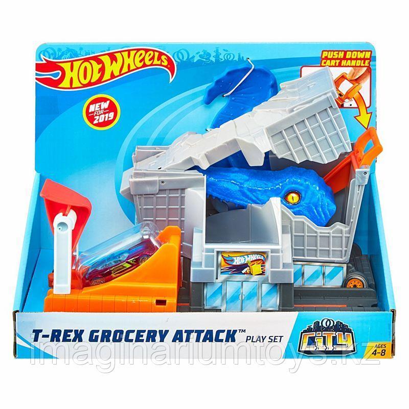 Трек Хот Вилс Город «Атака динозавра Т-Рекса» Hot Wheels City - фото 1