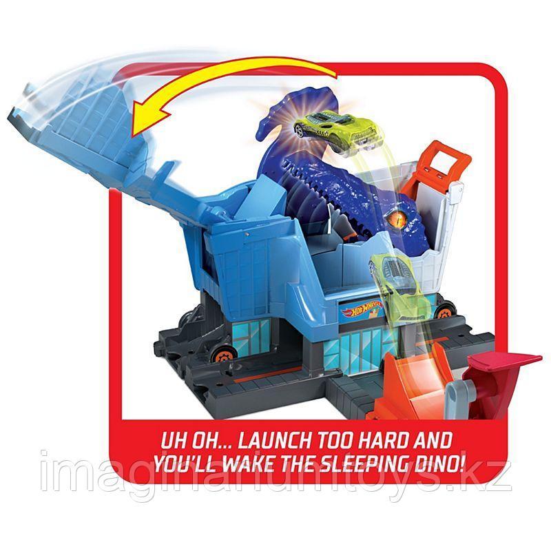 Трек Хот Вилс Город «Атака динозавра Т-Рекса» Hot Wheels City - фото 6
