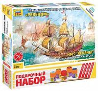 """Флагманский корабль Френсиса Дрейка """"Ревендж"""", Подарочный набор, сб. модель, 1:350"""