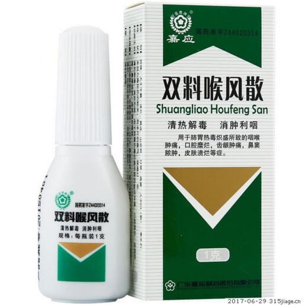 Шуанляо хоуфэн сань- Shuangliao Houfeng San. Лечение ангины