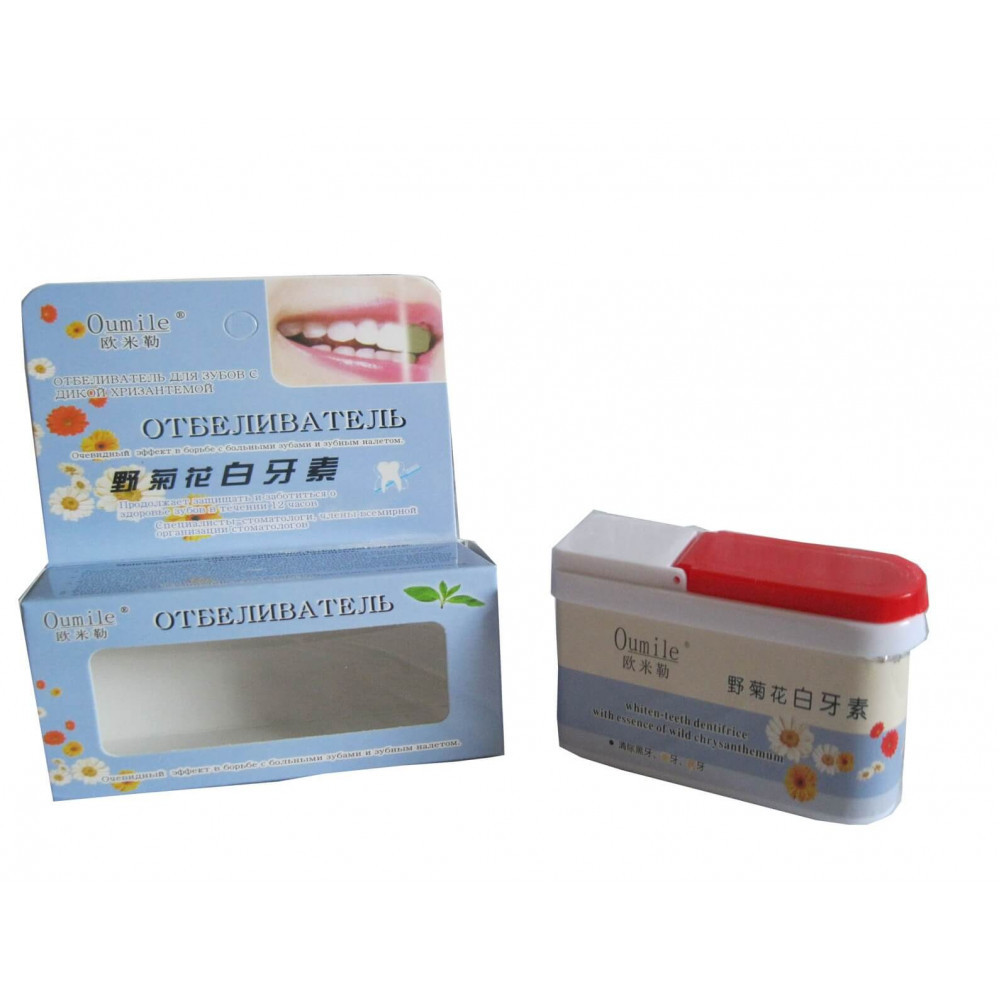 Отбеливатель для зубов с цветами хризантем