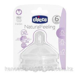 Chicco Соска для бутылочки, Chicco, Natural Feeling быстрый поток, от 6 месяцев