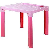 Стол детский 515х515х475 мм, Розовый, М2466