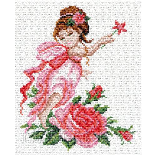 """Рисунок на канве для вышивания крестом """" Фея роз"""" арт. 1637-1"""