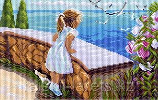 """Рисунок на канве для вышивания крестом """"Летняя прогулка"""" арт. 0874"""