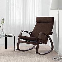 ПОЭНГ Кресло-качалка, коричневый, Шифтебу коричневый, Шифтебу коричневый коричневый, фото 1