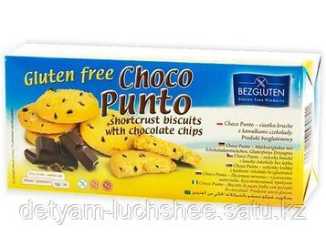 Печенье песочное с кусочками шоколада Choco Punto без глютена 130 г Bezgluten