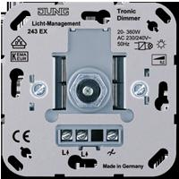 Роторный диммер с нажимным включением (20-360Вт) для низковольтных ламп