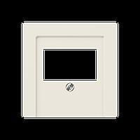 Крышка для аудиорозеток/USB розеток (слоновая кость)