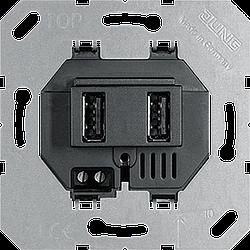 Зарядное устройство с 2 гнёздами USB Type A (антрацит)