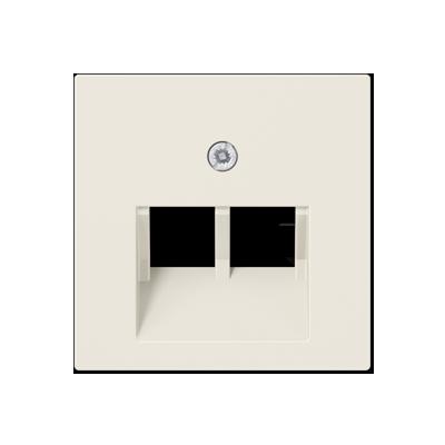 Крышка для сдвоенной телефонной или компьютерной розетки (слоновая кость)