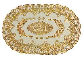 Овальная салфетка с золотым декором 45х30 см. Черная пятница!, фото 2