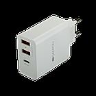 Сетевое зарядное устройство высокой мощности Canyon мульти-USB (CNE-CHA08W)