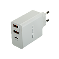 Сетевое зарядное устройство высокой мощности Canyon мульти-USB (CNE-CHA08W), фото 1