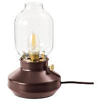 Лампа настольная ТЭРНАБИ темно-красный ИКЕА, IKEA