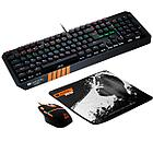 CANYON 3in1 Gaming set, Keyboard with rainbow LED(104 keys), Mouse with RGB(DPI 800/1600/3200/4200),