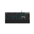 Wired Gaming Keyboard,Black 104 mechanical switches,60 million times key life, 22 types of lights,Re
