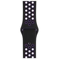 Оригинальный браслет/ремешок для Apple Watch 40mm Black/Hyper Grape Nike Sport Band S/M & M/L