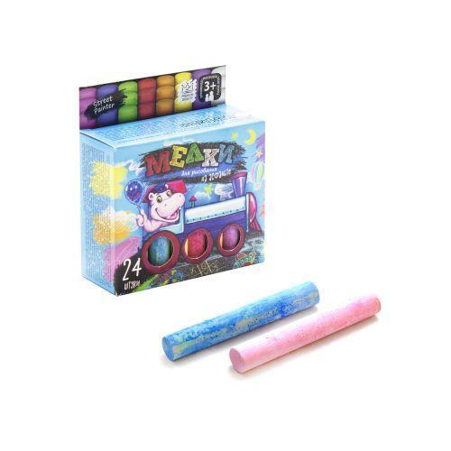 Цветные мелки для рисования на асфальте, 24 шт.