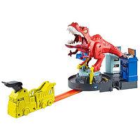 Трек Хот Вилс «Яростный динозавр Ти-Рекс» Hot Wheels City GFH88