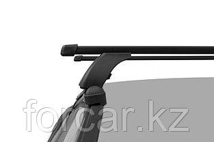 """Багажная система """"LUX"""" с дугами 1,2м прямоугольными в пластике для Kia Rio III Sedan 2011-2017 г.в., фото 3"""