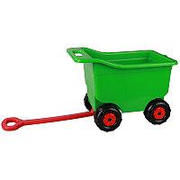 Тележка для игр на колесах большая, Зеленая, М5262