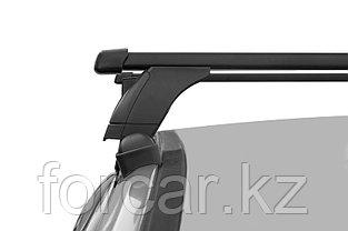 """Багажная система 3 """"LUX"""" с дугами 1,1м прямоугольными в пластике для а/м Hyundai Accent Solaris II 2017+, фото 3"""